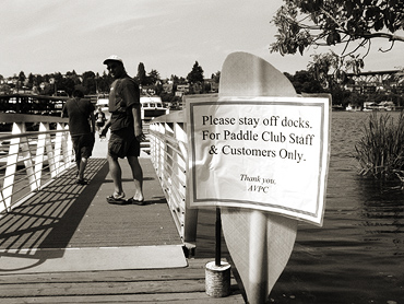 Stay-off-dock