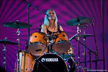 Debbie-on-drums
